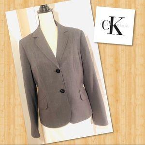 Calvin Klein Stretch Charcoal Gray Blazer Jacket
